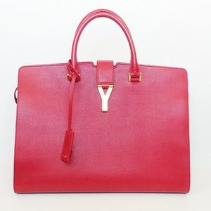 Yvette Saint Laurent Large Chyc Cabas Tote Red